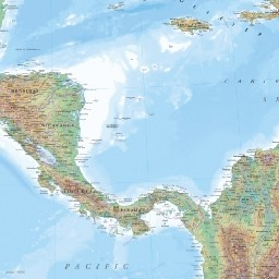 Regional Relief - Central America & Caribbean on